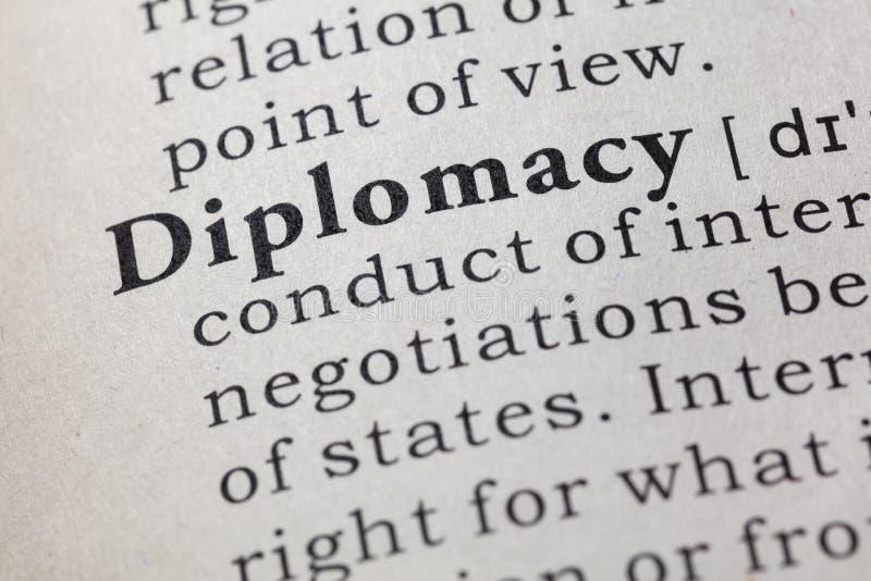 Definitie van diplomatie royalty-vrije stock afbeelding