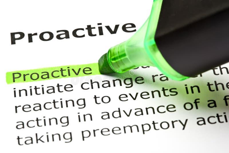 Definitie van Pro-actief royalty-vrije stock afbeeldingen