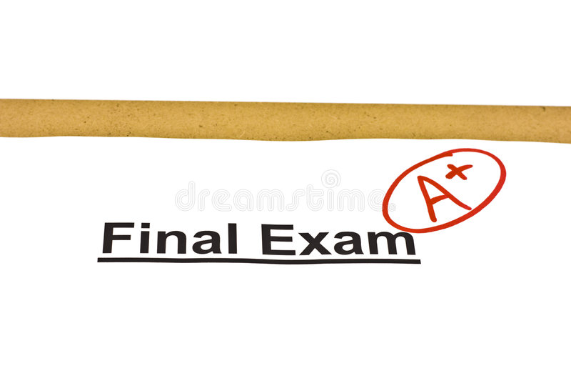 Definitief Examen Duidelijk met A+ stock fotografie