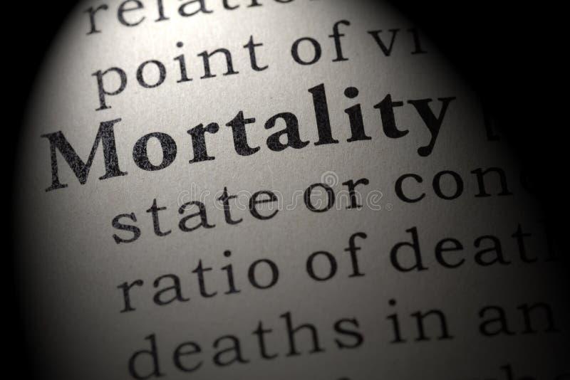 Definition av dödlighet fotografering för bildbyråer