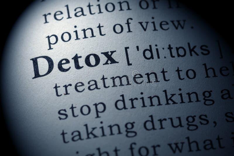Definition av detoxen arkivbilder