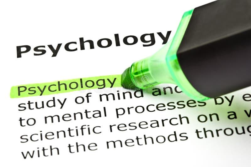 Definition av psykologi royaltyfria foton