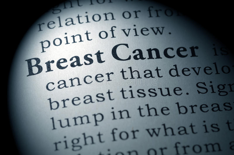 Definition of breast cancer royalty free stock photography