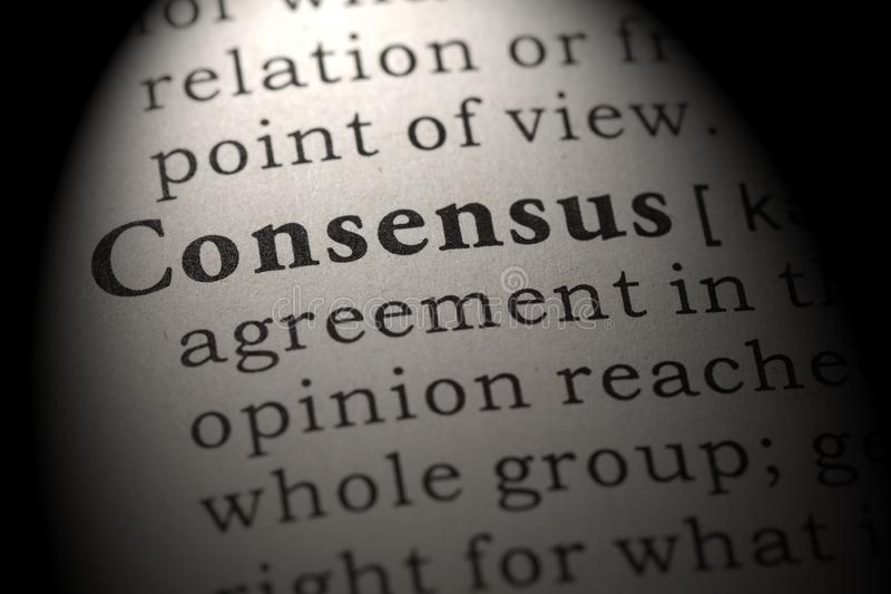 Definition of consensus. Fake Dictionary, Dictionary definition of the word consensus. including key descriptive words stock photography