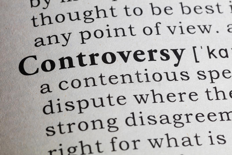 Definition of controversy stock photos