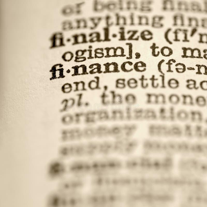 Definition der Finanzierung. lizenzfreie stockbilder