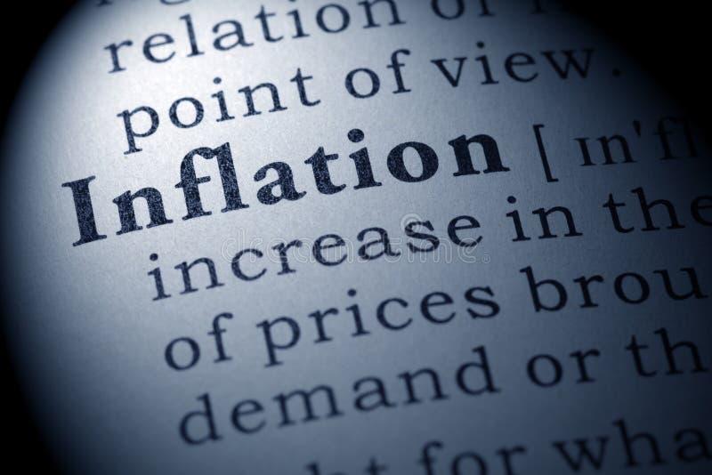 Definition der Inflation stockbilder