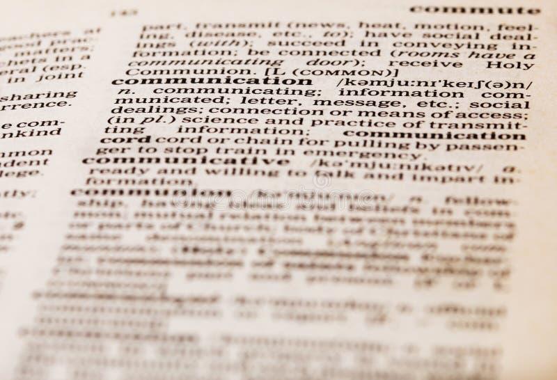 Definition der Kommunikation lizenzfreie stockfotos