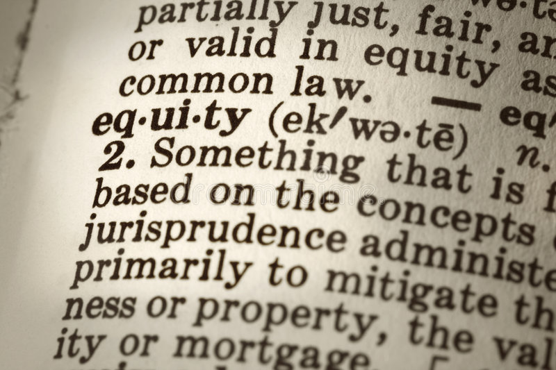Download Definition of Equity stock image. Image of property, ownership - 6702405