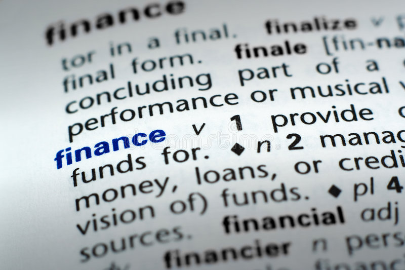 Definition Of Finance Royalty Free Stock Photos