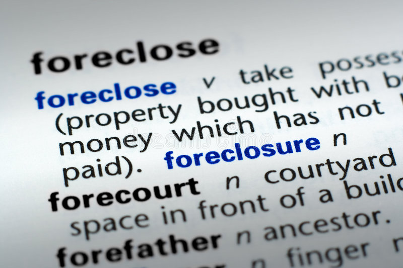 Download Definition Of Foreclosure Stock Photo. Image Of Business   6427490