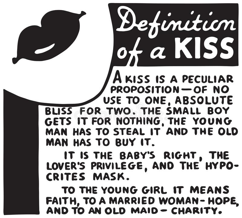 Definition Of A Kiss vector illustration