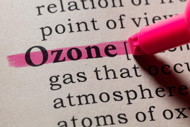 Definition of ozone. Fake Dictionary, Dictionary definition of the word ozone. including key descriptive words royalty free stock image
