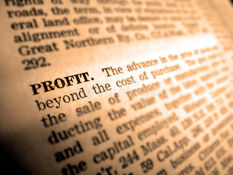 Download Definition Of Profit Stock Images - Image: 12698174