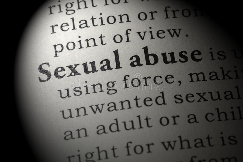 Definition of Sexual abuse stock images
