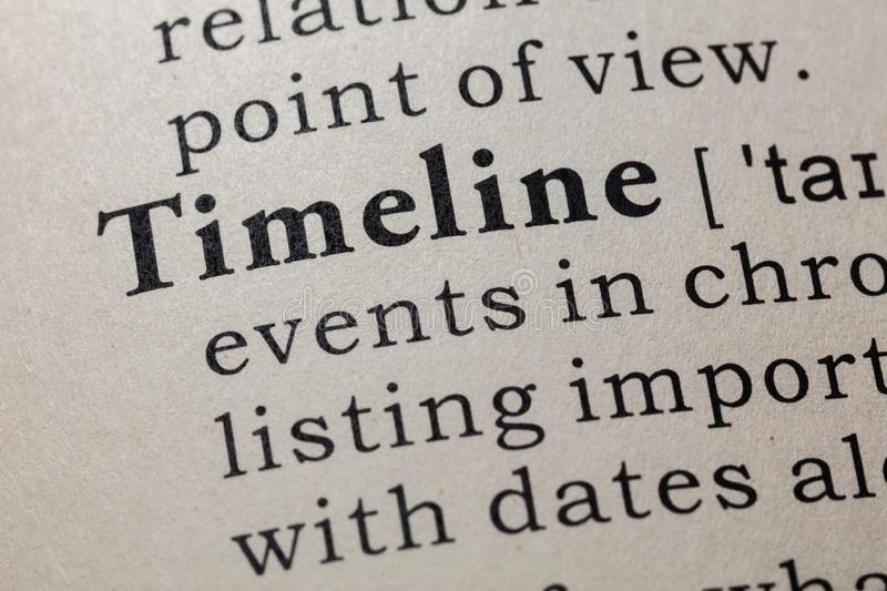 Definition of Timeline stock image
