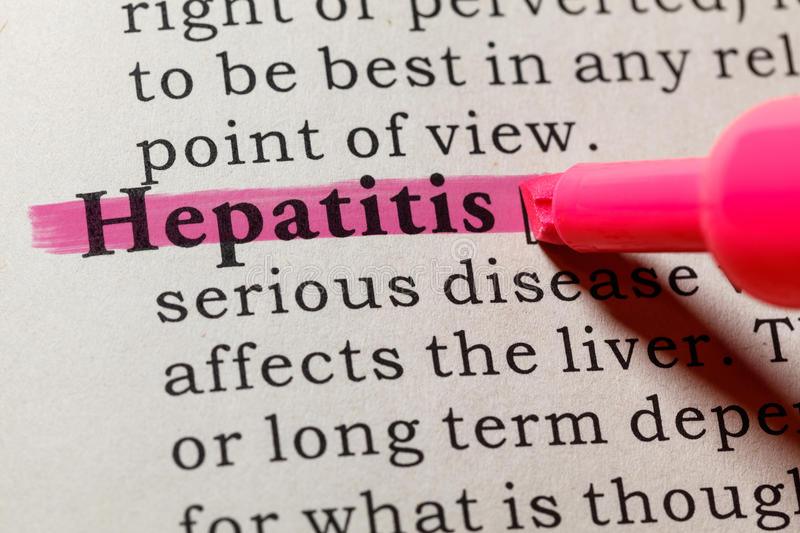 Definition von Hepatitis lizenzfreie stockbilder