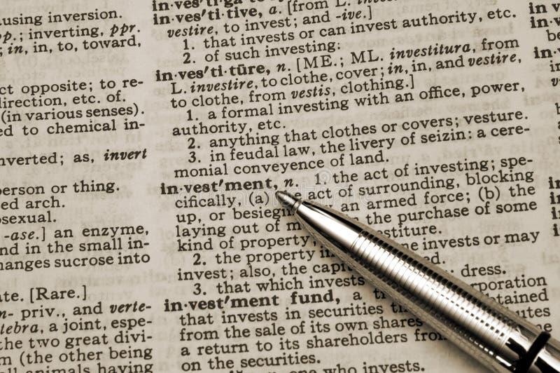 Download Definitioninvestering arkivfoto. Bild av blyertspenna, investering - 523596