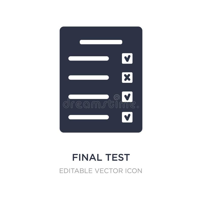 definitywnego testa ikona na białym tle Prosta element ilustracja od edukacji pojęcia ilustracja wektor