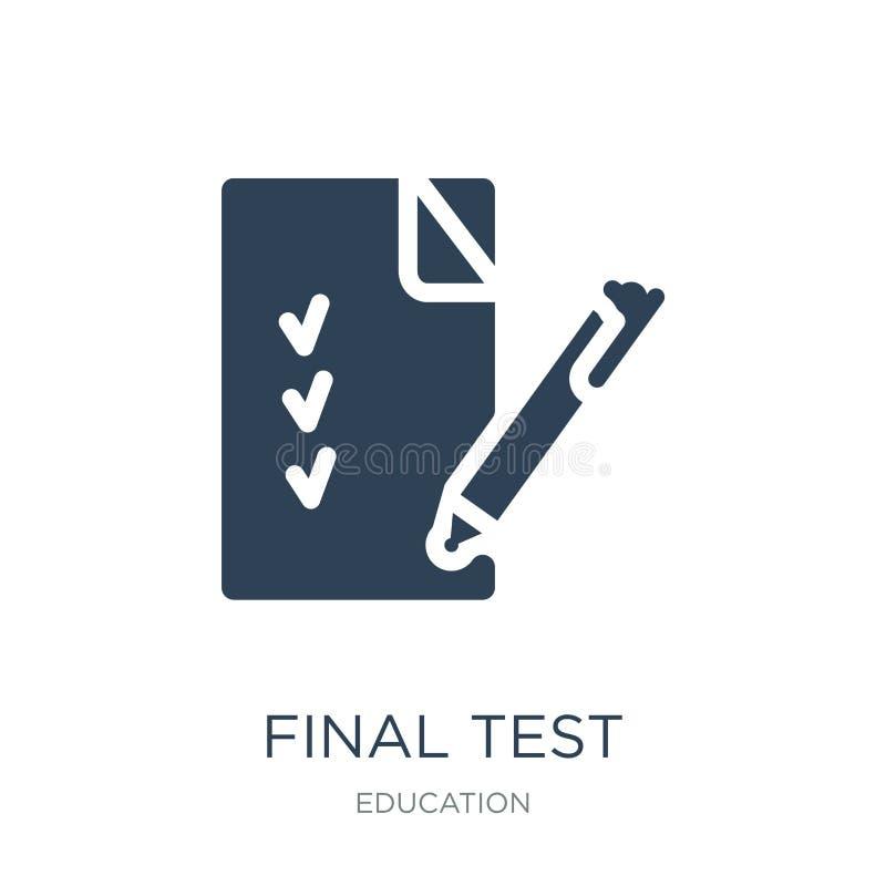 definitywnego testa ikona w modnym projekta stylu definitywnego testa ikona odizolowywająca na białym tle definitywnego testa wek ilustracja wektor