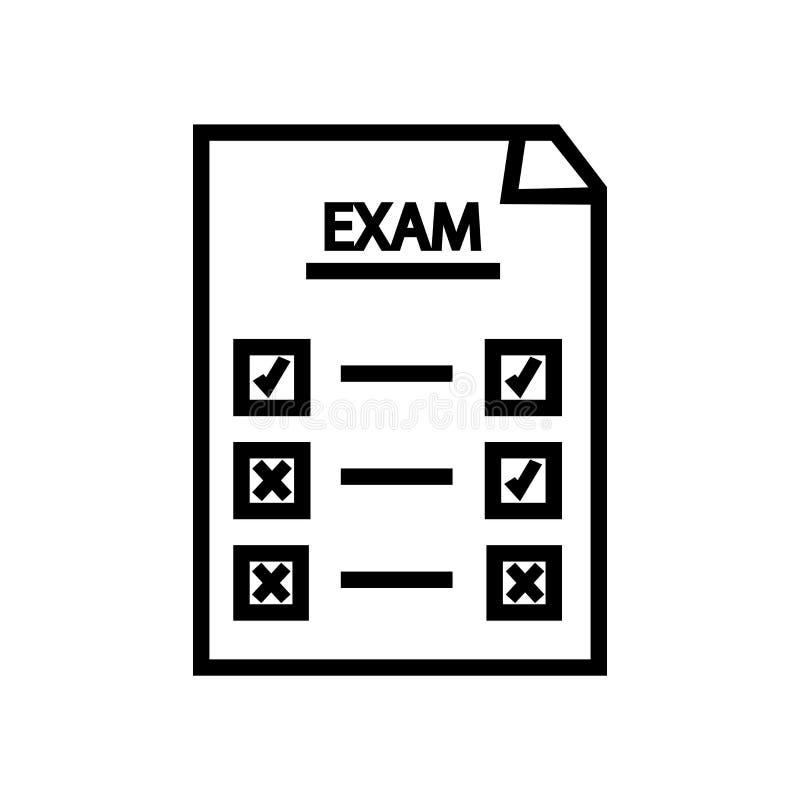 Definitywnego testa ikony wektor odizolowywający na białym tle, Definitywnego testa znak, liniowy symbol i uderzenie projekta ele ilustracja wektor
