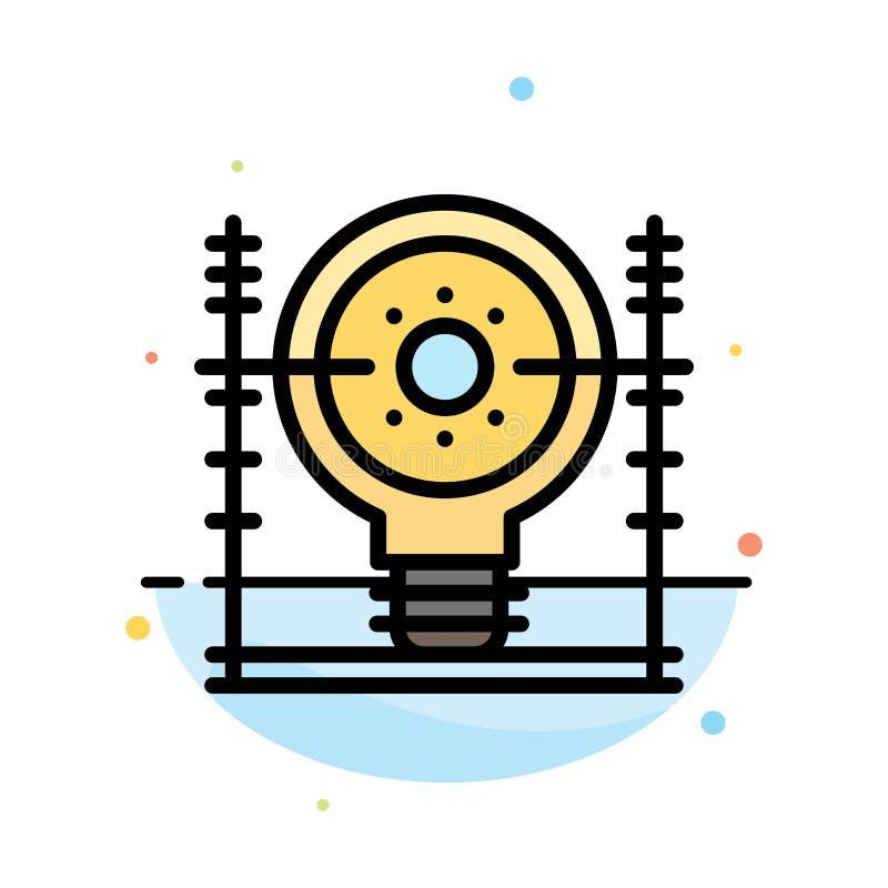 Definiuje, energia, inżynieria, pokolenie, władza koloru ikony Abstrakcjonistyczny Płaski szablon ilustracja wektor