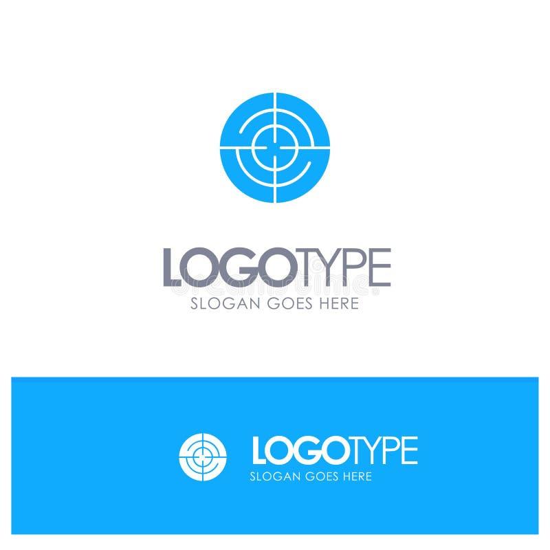 Definiuje, Gps, lokacja, nawigacja Błękitny Stały logo z miejscem dla tagline ilustracja wektor