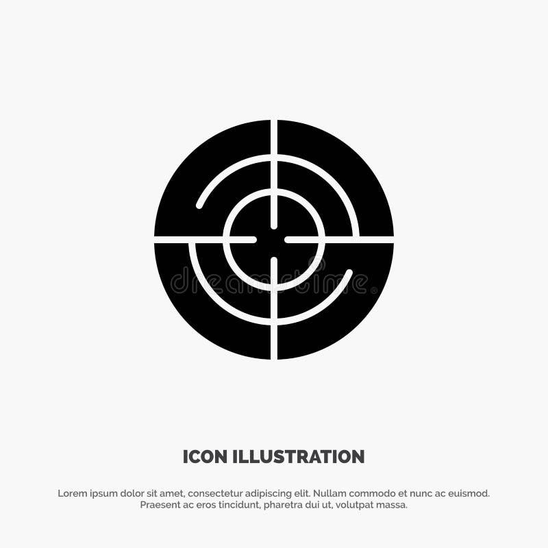 Definiuje, Gps, lokacja, nawigacja glifu ikony stały wektor ilustracja wektor