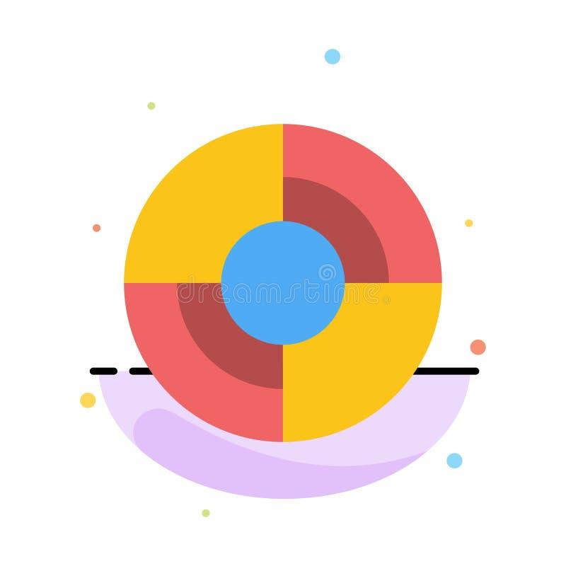 Definiuje, Gps, lokacja, nawigacja koloru ikony Abstrakcjonistyczny Płaski szablon royalty ilustracja