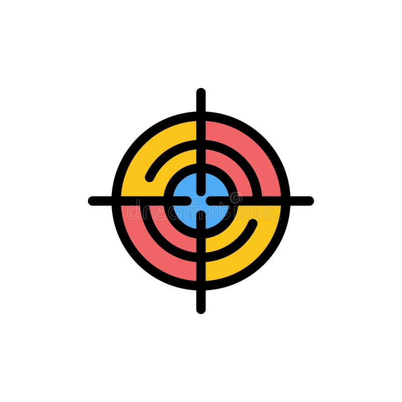 Definiuje, Gps, lokacja, nawigacja koloru Płaska ikona Wektorowy ikona sztandaru szablon royalty ilustracja