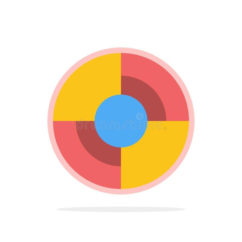 Definiuje, Gps, lokacja, nawigacja okręgu Abstrakcjonistycznego tła koloru Płaska ikona ilustracja wektor