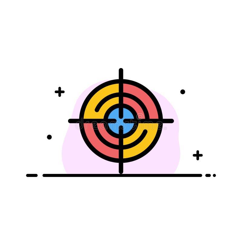 Definiuje, Gps, lokacja, nawigacji mieszkania ikony sztandaru Biznesowa linia Wypełniający Wektorowy szablon royalty ilustracja