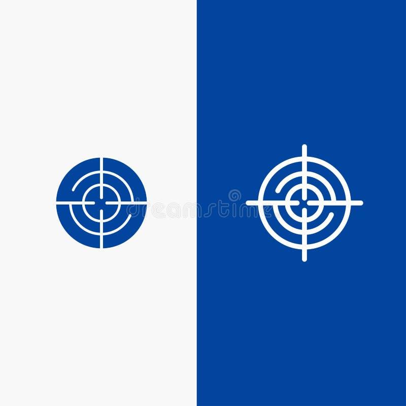 Definiuje, Gps, lokacji, nawigacji linii i glifu Stałej ikony sztandaru glifu, Błękitnej ikony błękita Stały sztandar ilustracji