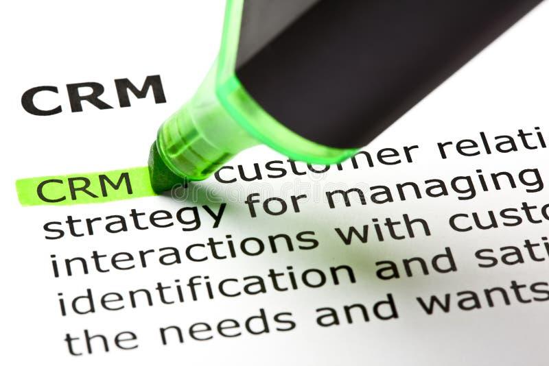 Definizione del customer relationship management fotografia stock libera da diritti