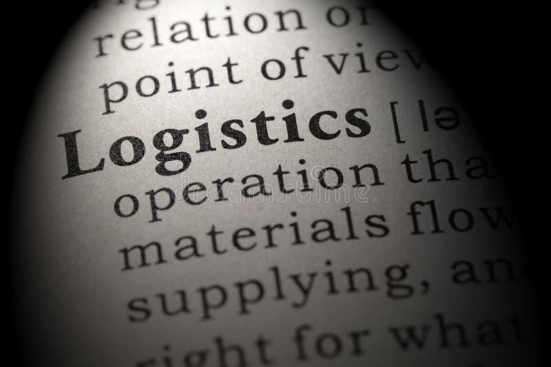 Definizione della logistica immagine stock