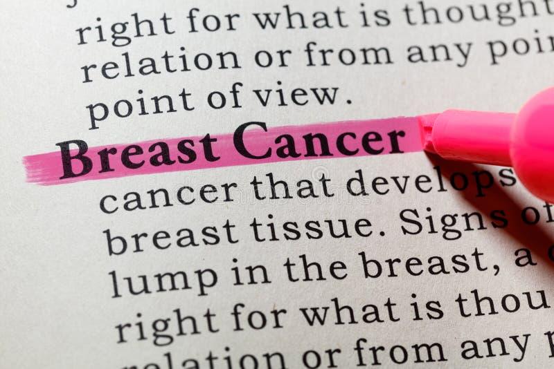 Definizione di cancro al seno fotografia stock