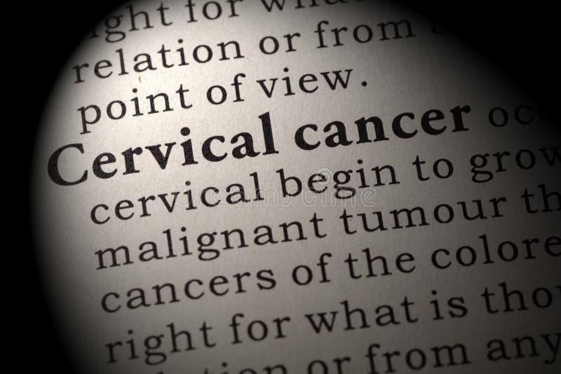 Definizione di cancro cervicale fotografie stock