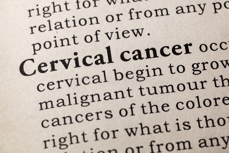 Definizione di cancro cervicale immagini stock
