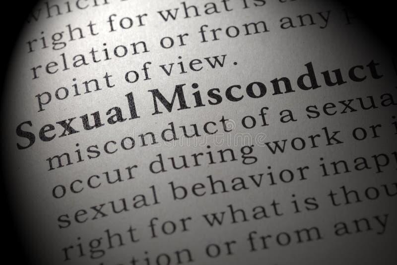 Definizione di cattiva condotta sessuale immagine stock