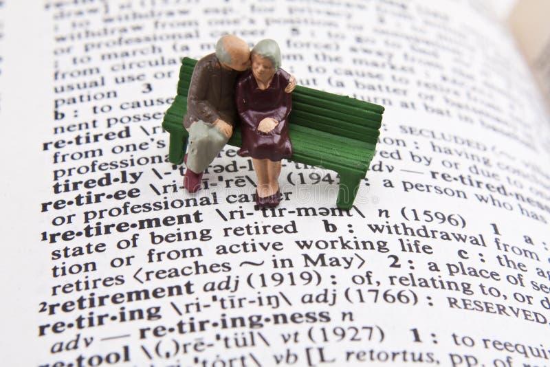Definizione di pensione fotografie stock