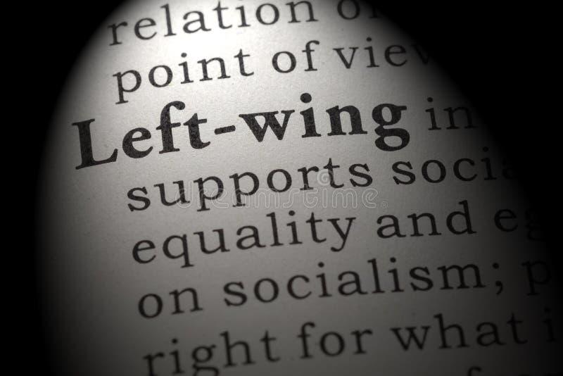 Definizione di di sinistra fotografie stock