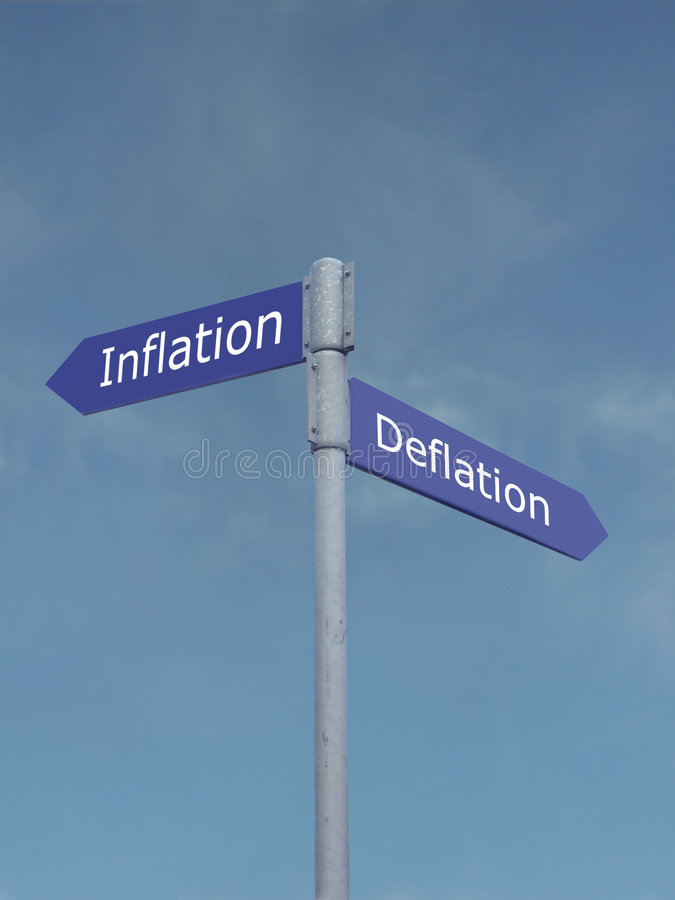 deflationinflation vs royaltyfri fotografi