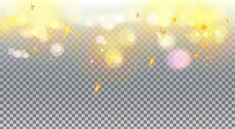 Defocus accende trasparente royalty illustrazione gratis