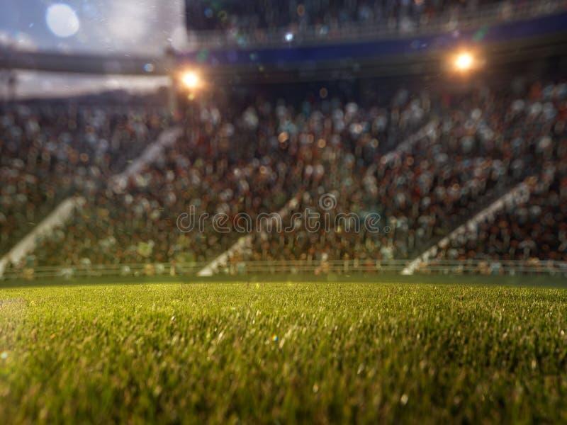 Defocus van stadionventilators bokeh 3d geef illustratie terug stock illustratie