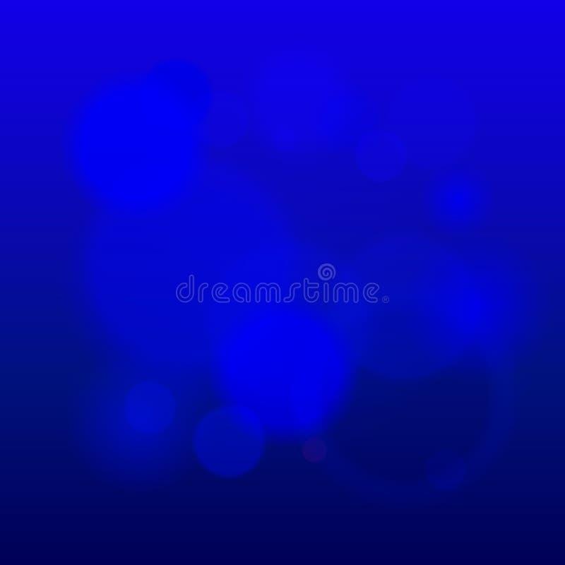 defocused抽象现代光的背景和梯度纹理 深蓝颜色被弄脏的背景 向量 皇族释放例证