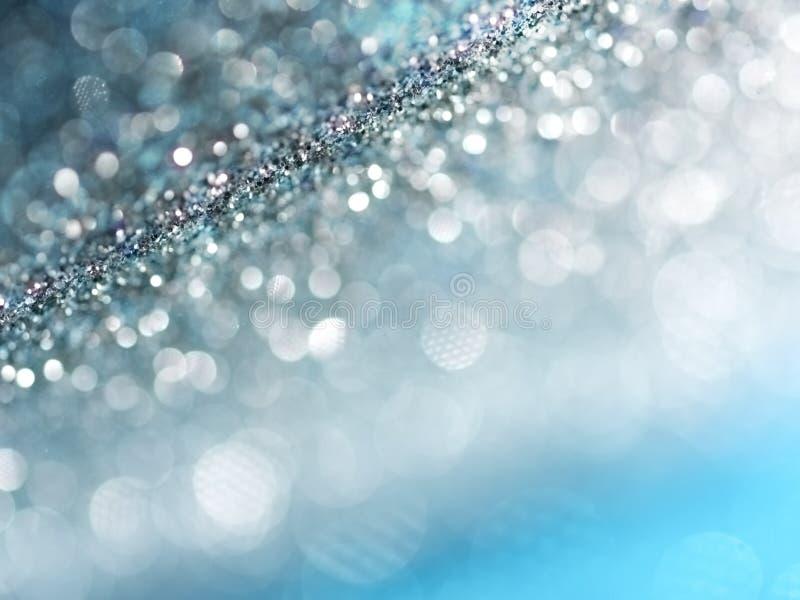 Defocused абстрактная синь освещает предпосылку Света Bokeh стоковые фотографии rf