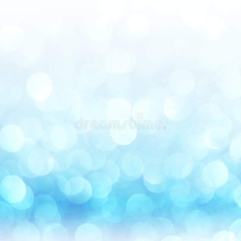 Defocused абстрактная синь освещает предпосылку Света Bokeh стоковое фото