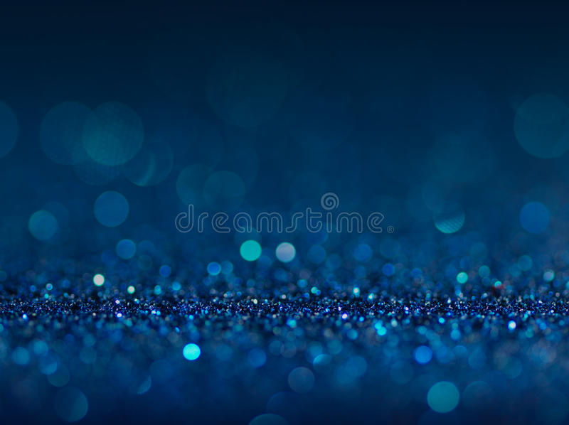 Defocused abstract blue lights background . bokeh lights. Concept stock photo