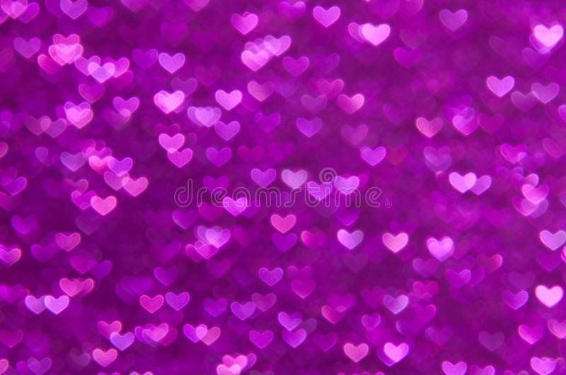 Defocused Abstract Purple Hearts Light Background Stock ...