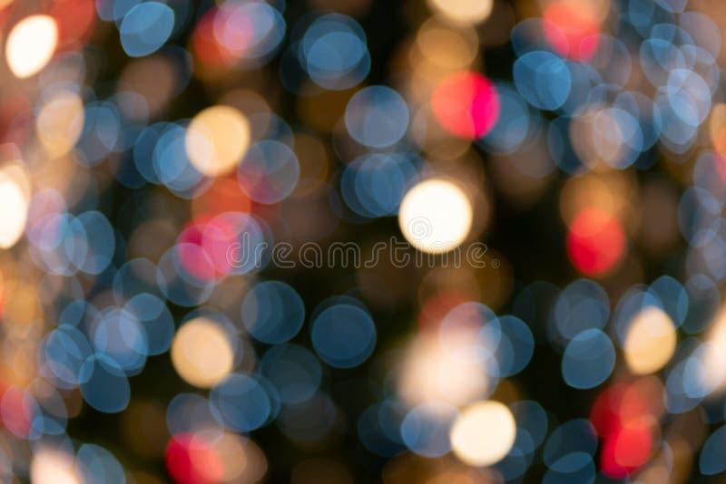 Defocused abstrakt färgrik ljus bakgrund för jul royaltyfri fotografi